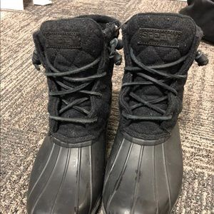 Sperry all black boots